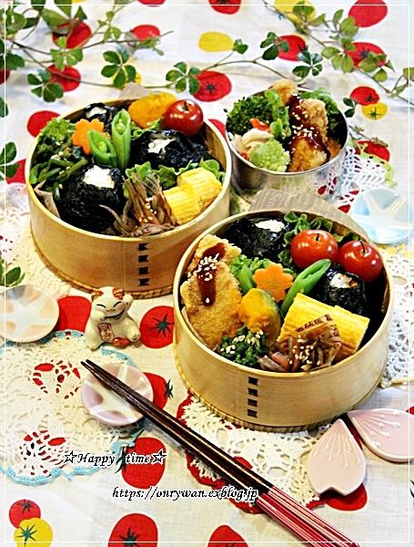 カジキフライとおむすび弁当と我が家の庭~おうちごはん♪_f0348032_18530724.jpg