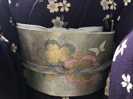 約30年前の桜の小紋と桜の螺鈿の帯・先日着た桜の着物_f0181251_19161086.jpg