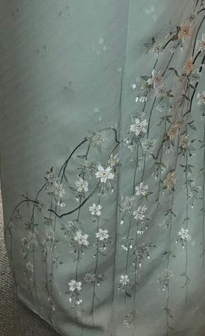 約30年前の桜の小紋と桜の螺鈿の帯・先日着た桜の着物_f0181251_19194353.jpg