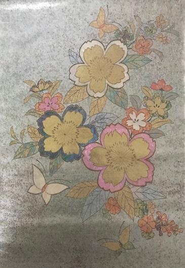 約30年前の桜の小紋と桜の螺鈿の帯・先日着た桜の着物_f0181251_1982655.jpg