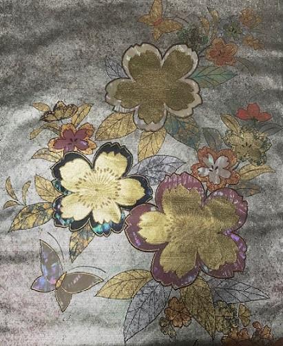 約30年前の桜の小紋と桜の螺鈿の帯・先日着た桜の着物_f0181251_1991163.jpg