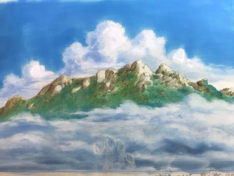 ジブリ美術監督山本二三さんのデモンストレーション&ジョバンニミラバッシのミニコンサート_b0160957_10095099.jpg