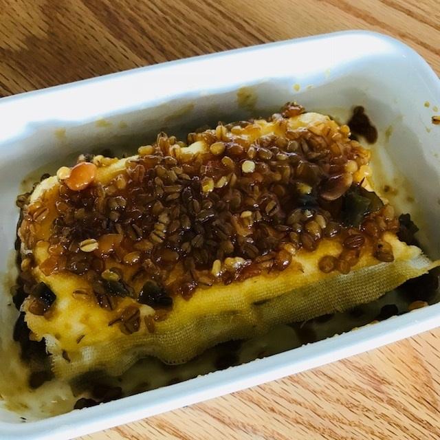 クリームチーズの金山寺味噌ワサビ漬け_f0204295_17421061.jpg