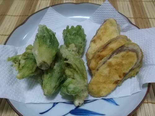 ふきのとうの天ぷら&まぐろの漬け丼_f0019498_19033280.jpg