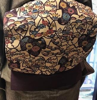 ご来店のお客様・紬の着物に紅型帯・今日も桜の着物と帯_f0181251_18442068.jpg