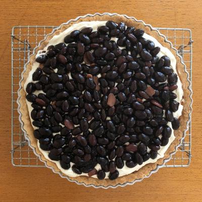 黒豆とクリームチーズのタルト_b0102217_16295347.jpg