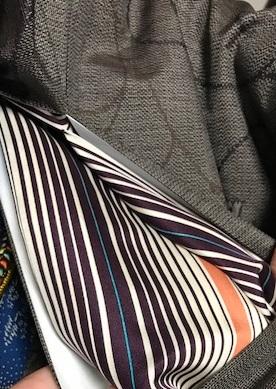 青森からのお客様・伊織紬+五味桂子さん遠山文様紅型帯_f0181251_13575924.jpg