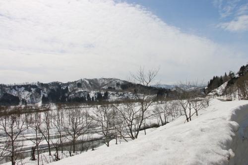 白川湖畔&飯豊山風景:春分・2, 2018.3.21_c0075701_17222193.jpg