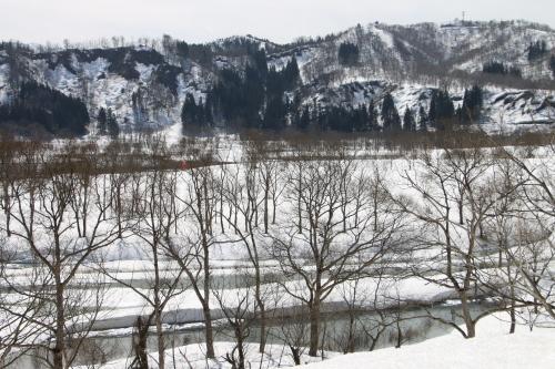 白川湖畔&飯豊山風景:春分・3, 2018.3.21_c0075701_17322672.jpg