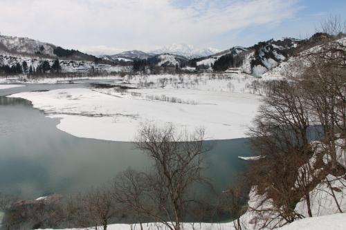 白川湖畔&飯豊山風景:春分・5, 2018.3.21_c0075701_17445221.jpg