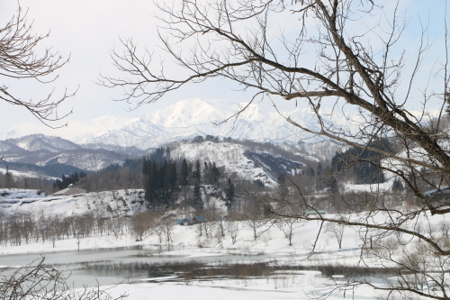 白川湖畔&飯豊山風景:春分・6, 2018.3.21_c0075701_17502016.jpg