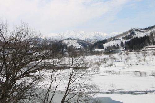 白川湖畔&飯豊山風景:春分・6, 2018.3.21_c0075701_17505476.jpg