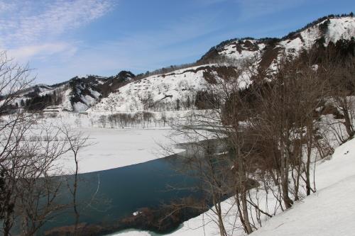 白川湖畔&飯豊山風景:春分・6, 2018.3.21_c0075701_17521038.jpg