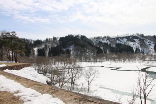 白川湖畔&飯豊山風景:春分・8, 2019.3.21_c0075701_18035041.jpg