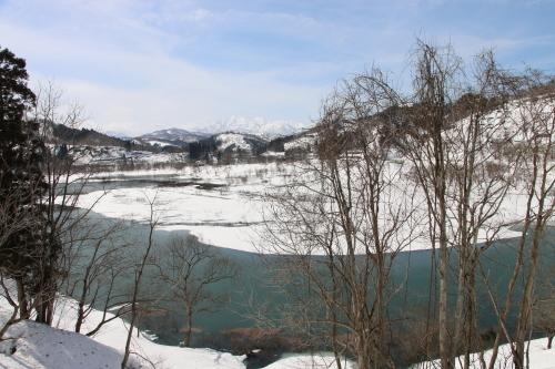 白川湖畔&飯豊山風景:春分・10, 2019.3.2_c0075701_19560982.jpg