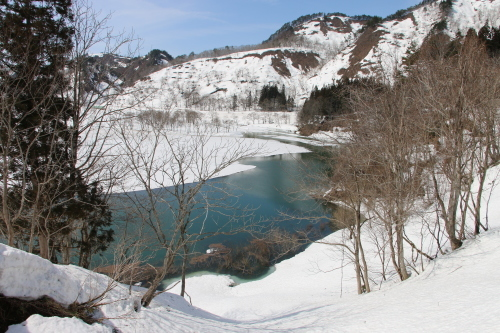 白川湖畔&飯豊山風景:春分・10, 2019.3.2_c0075701_19561601.jpg