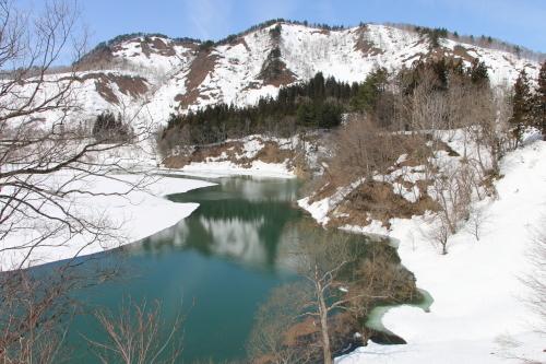 白川湖畔&飯豊山風景:春分・10, 2019.3.2_c0075701_19562629.jpg