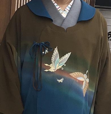 北野をどりのお客様・作家さんの素敵なコート・桜も開花_f0181251_20543513.jpg