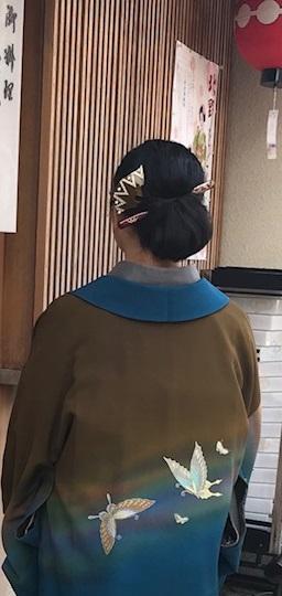 北野をどりのお客様・作家さんの素敵なコート・桜も開花_f0181251_20582133.jpg