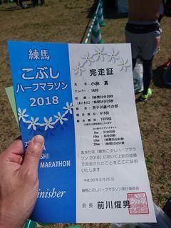 練馬こぶしハーフマラソン2018に参加してきました(^^)/_c0223192_21422424.jpg