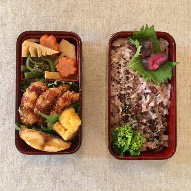 lunch box  お赤飯でお祝いと感謝の気持ちを_a0165160_21370314.jpg