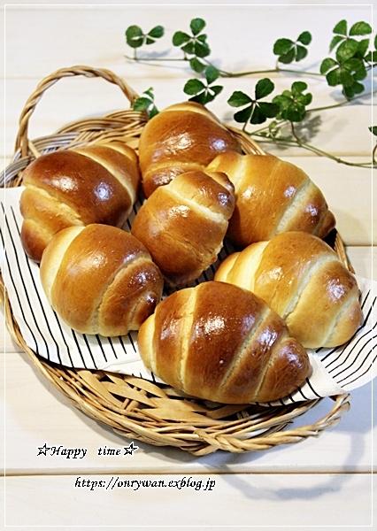 手作りバターロールでロールサンド弁当とイチゴ酵母♪_f0348032_17080670.jpg
