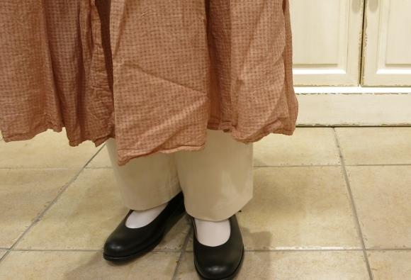 maison de soil から、ボイルチェック生地のピンタックドレスが届いてます。_c0227633_17322760.jpg