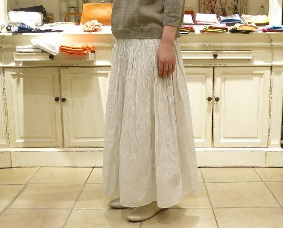 maison de soil から、ボイルチェック生地のピンタックドレスが届いてます。_c0227633_17353536.jpg