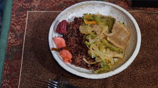 夕飯は本部牛の野菜炒め_e0166355_20335243.jpg