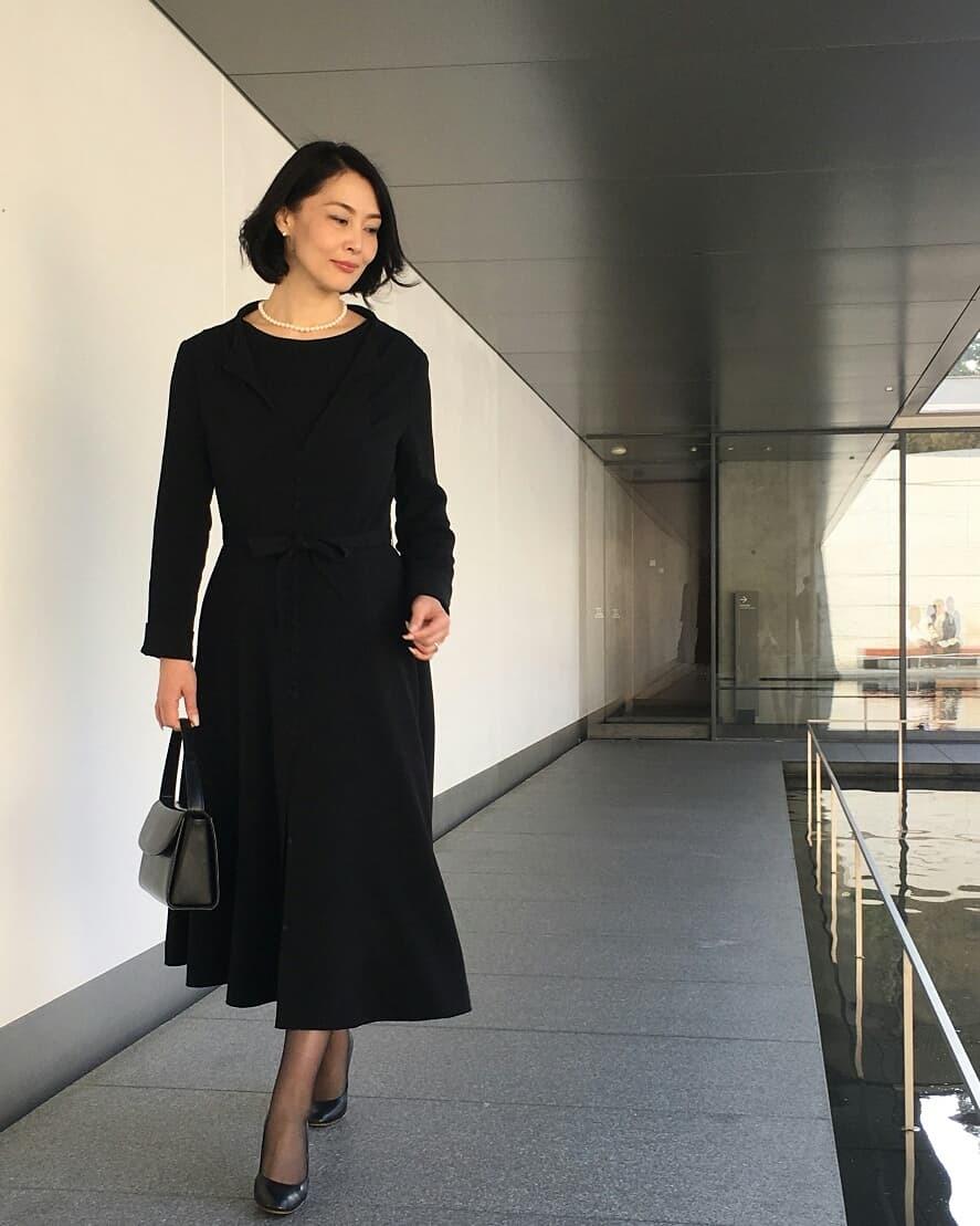 【丹後ちりめん】 robe noire in  鈴木大拙館_e0334462_16262541.jpg