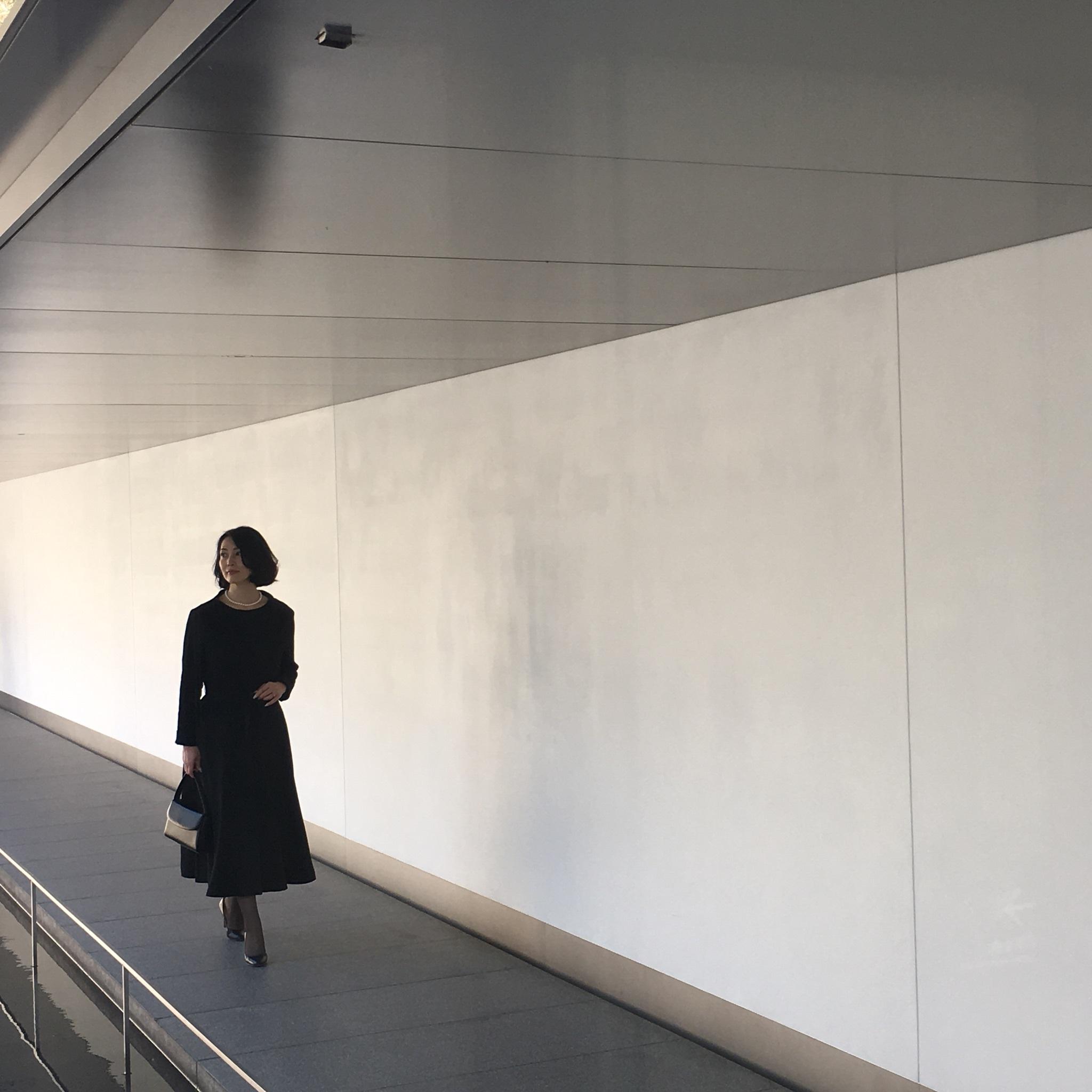 【丹後ちりめん】 robe noire in  鈴木大拙館_e0334462_16272744.jpg