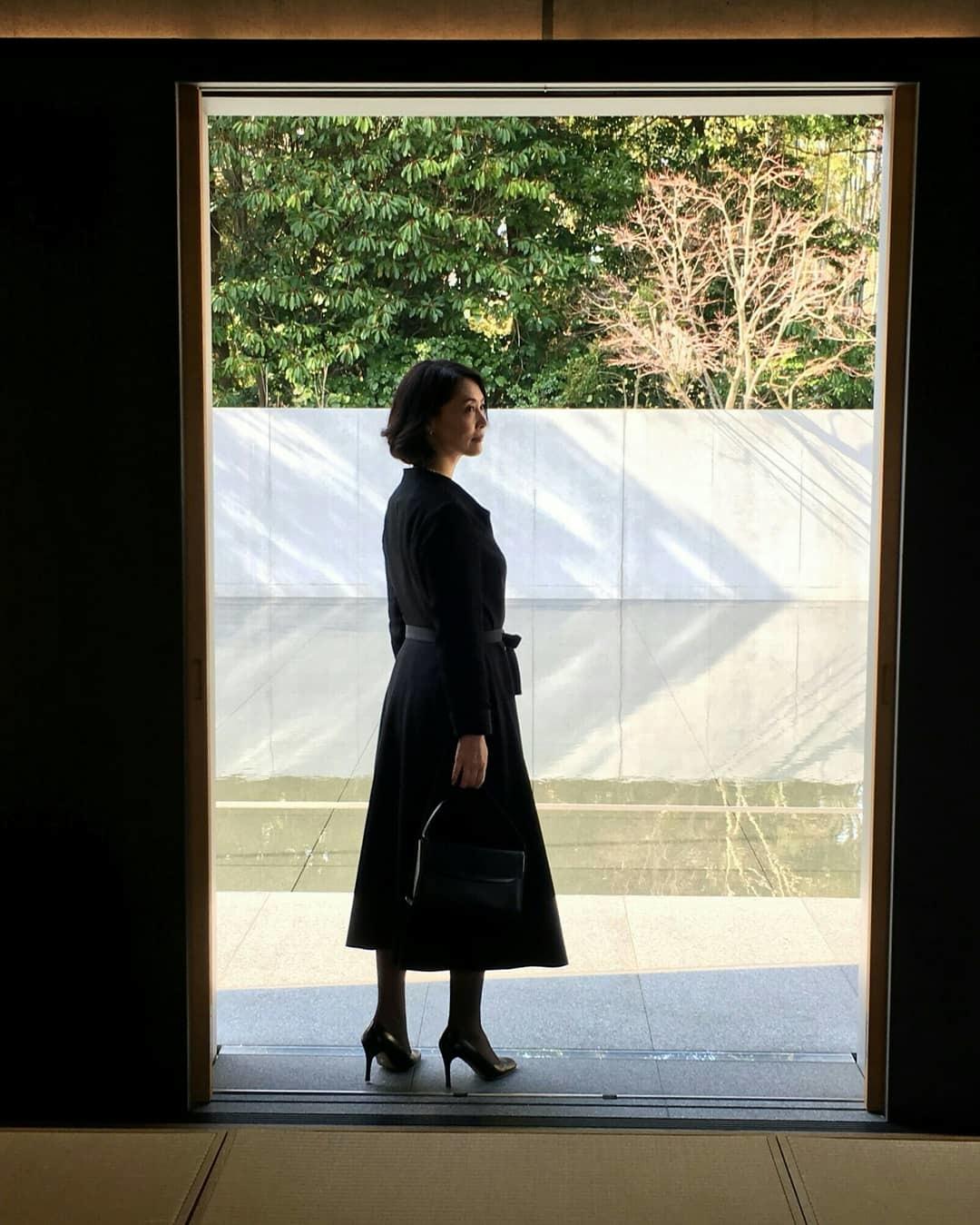 【丹後ちりめん】 robe noire in  鈴木大拙館_e0334462_16275206.jpg