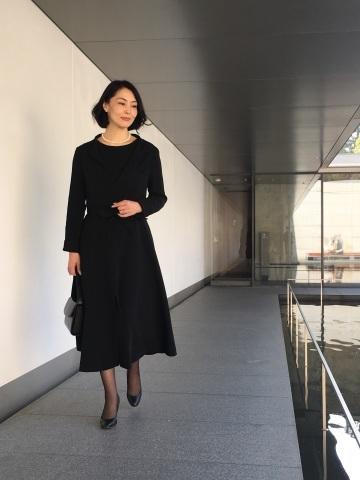 【丹後ちりめん】 robe noire in  鈴木大拙館_e0334462_16355426.jpg