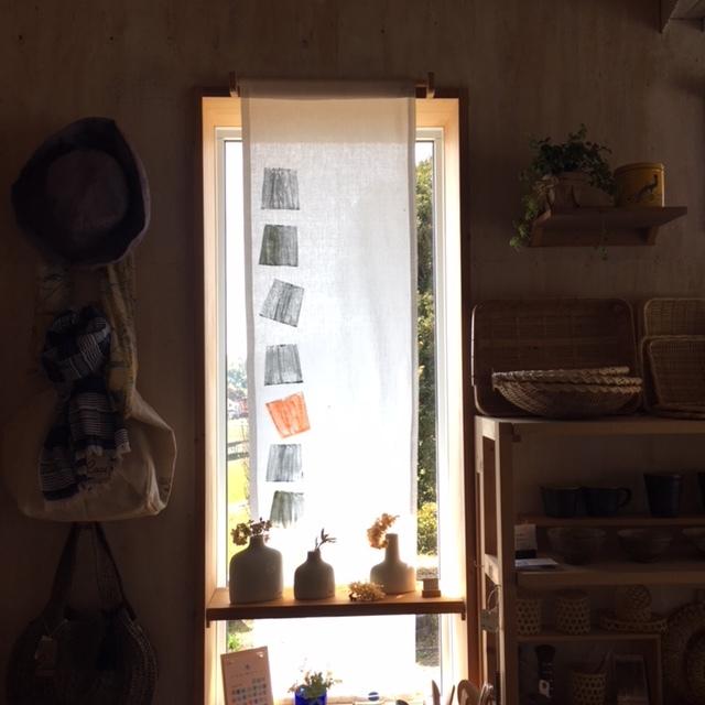 """窓用の """"布スクリーン"""" を作りました。_c0334574_19452124.jpg"""