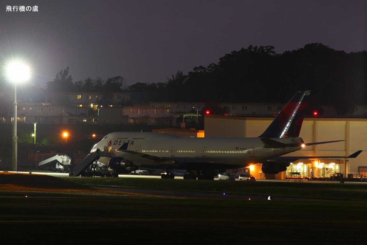 仙台空港からの飛来  B747  デルタ航空(DL)_b0313338_00020725.jpg