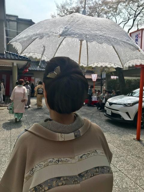 北野をどりのお客様・涼しげな道中着や綺麗なレースの日傘。_f0181251_1795667.jpg