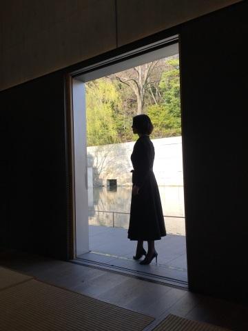 【丹後ちりめん】 robe noire in  鈴木大拙館_e0334462_15020183.jpg