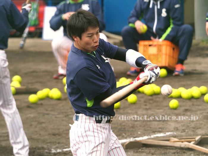 山田哲人選手、2018浦添キャンプその11_e0222575_15391591.jpg