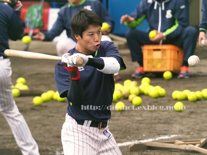 山田哲人選手、2018浦添キャンプその11_e0222575_1539263.jpg