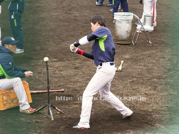 山田哲人選手、2018浦添キャンプその11_e0222575_15461526.jpg