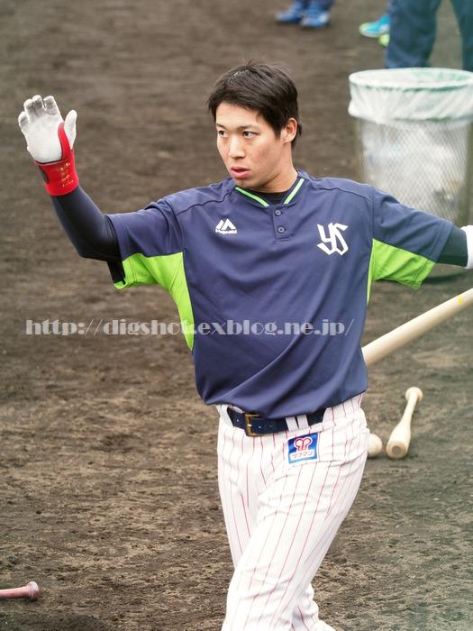 山田哲人選手、2018浦添キャンプその11_e0222575_1546187.jpg
