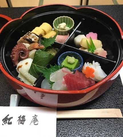 北野をどり・地元京都のお客様・おかもとさんの紅梅弁当_f0181251_1815314.jpg