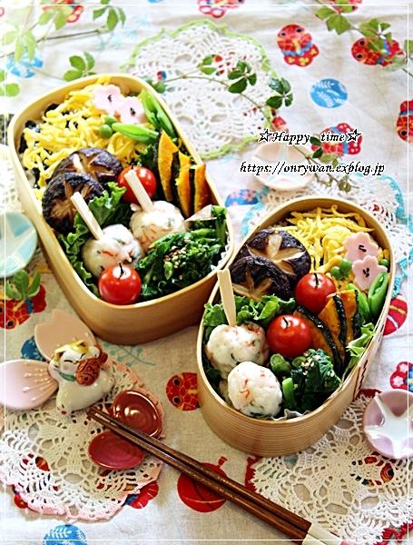 ちらし寿司弁当と地元の桜♪_f0348032_17372734.jpg