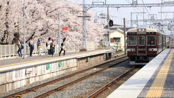 阪急上桂駅 桜・_d0202264_4453153.jpg