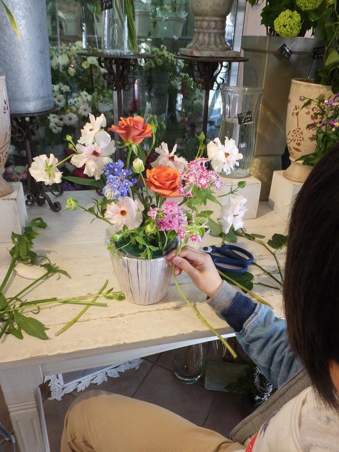 オークリーフ花の教室(さねゆきくんの作品)_f0049672_19443642.jpg