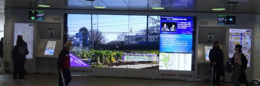 新宿駅西口地下広場TISマルチビジョンで小平_f0059673_20012715.jpg