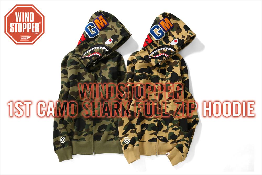 WINDSTOPPER 1ST CAMO SHARK FULL ZIP HOODIE_a0174495_15333583.jpg