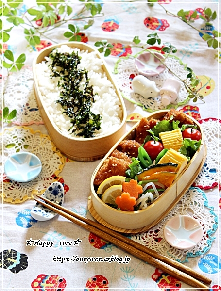 チキンカツ弁当と今週の作りおきとわらび♪_f0348032_17524762.jpg