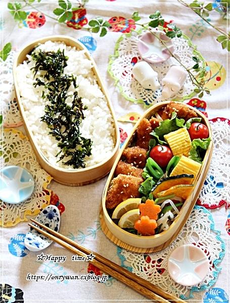 チキンカツ弁当と今週の作りおきとわらび♪_f0348032_17525957.jpg