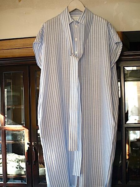 さりげなく上質で、シンプルですが、体型問わず、美しく着れて、使いやすい、TOMOUMI ONOの麻ワンピース_e0122680_17291044.jpg